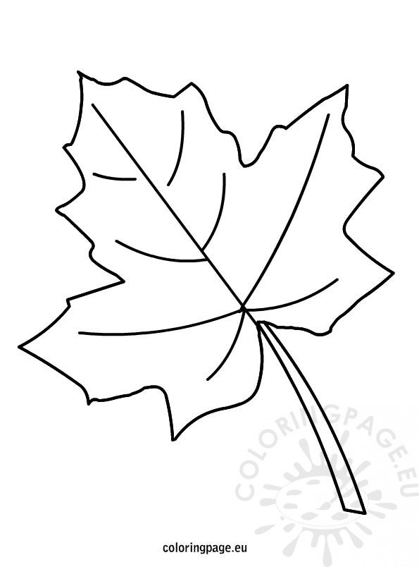 Autumn Leaf Coloring Coloring Page