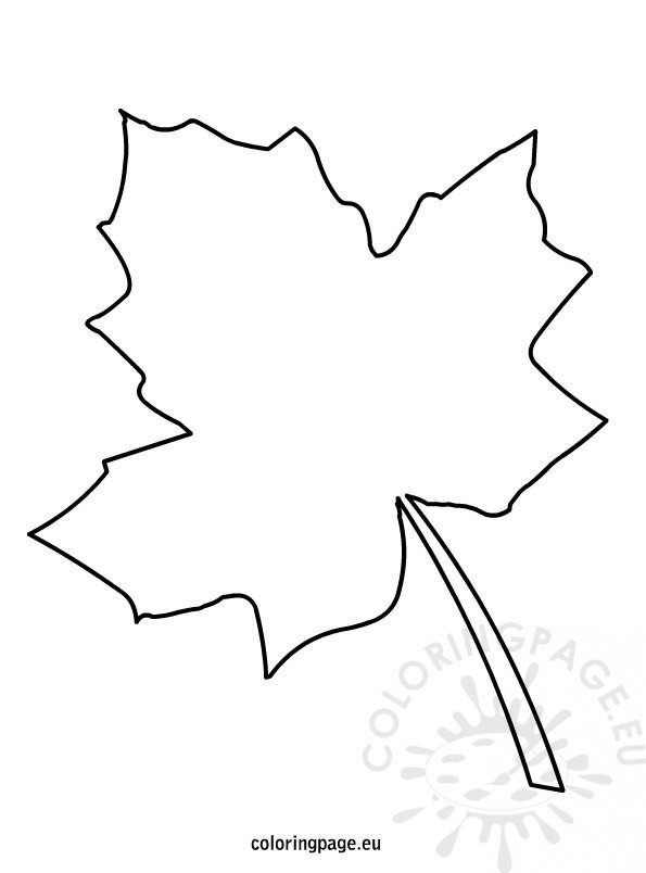 Autumn leaf template coloring page for Autumn leaf template free printables