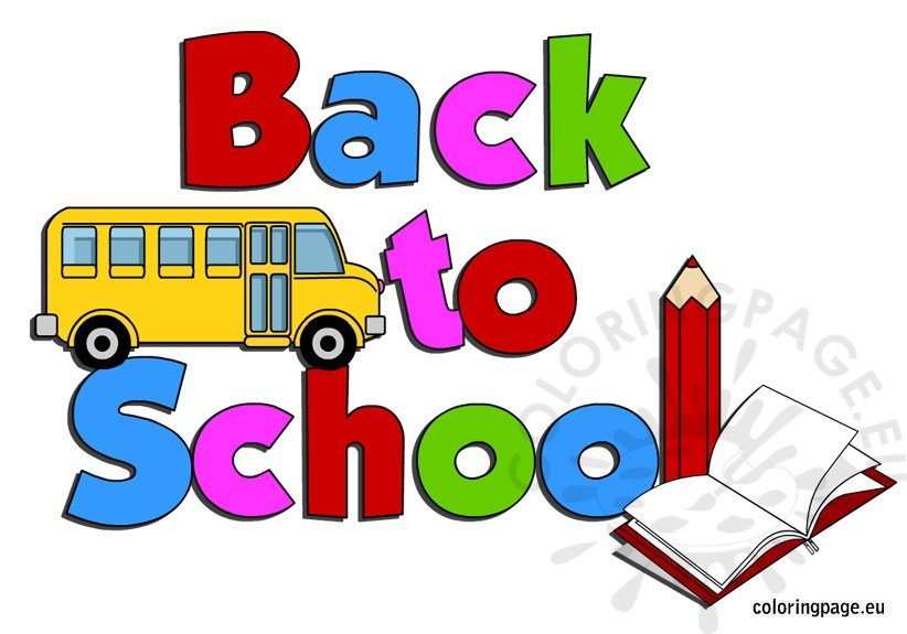 Back to school clip art | Coloring Page