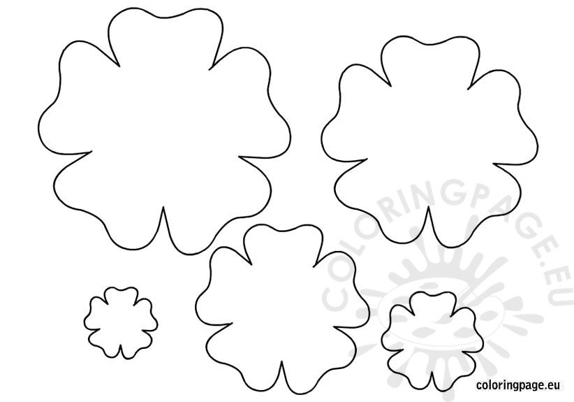 Printable flower template mightylinksfo