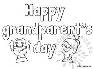 Happy grandparent's day coloring page