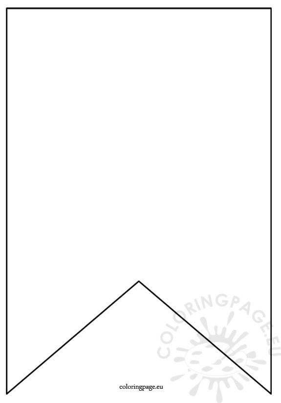 Flag Banner Template Coloring Page