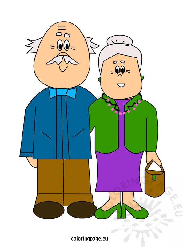 Grandparents | Coloring Page