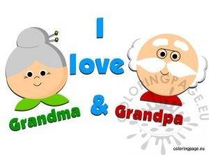 I love Grandma Grandpa
