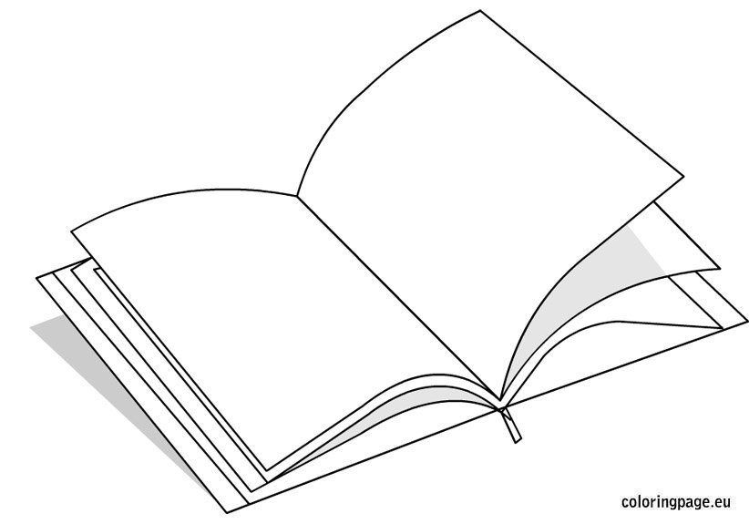Open book coloring page – Coloring Page