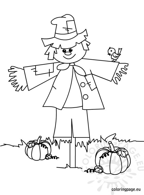s is for scarecrow coloring pages - photo #41