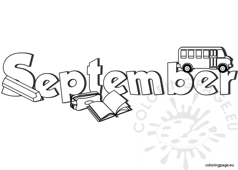 september coloring page - September Coloring Pages
