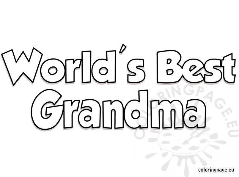 World's Best Grandma coloring page – Coloring Page