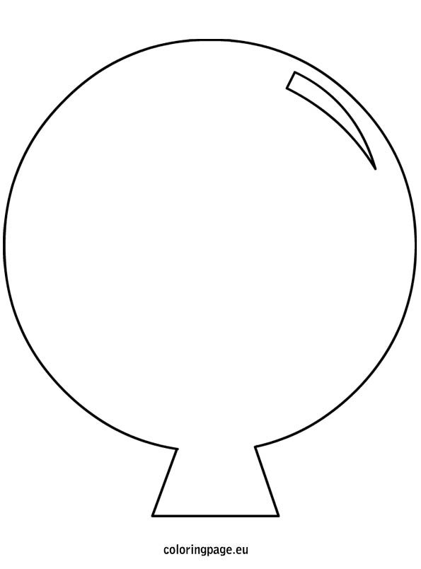 picture about Balloon Template Printable called Balloon Template Minimize Out Coloring Website page