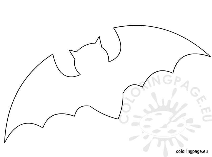 Bat Template For Halloween  Coloring Page
