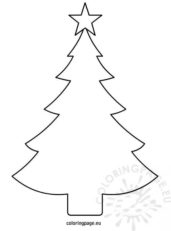 Christmas tree template printable | Coloring Page