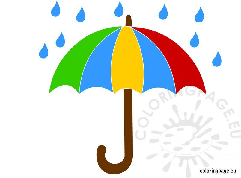 umbrella and rain clipart coloring page rh coloringpage eu clip art umbrella free clip art umbrella outline