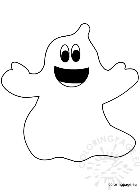 ghosts coloring pages - halloween ghost coloring page