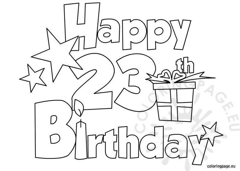 happy 4th birthday coloring pages - photo#8
