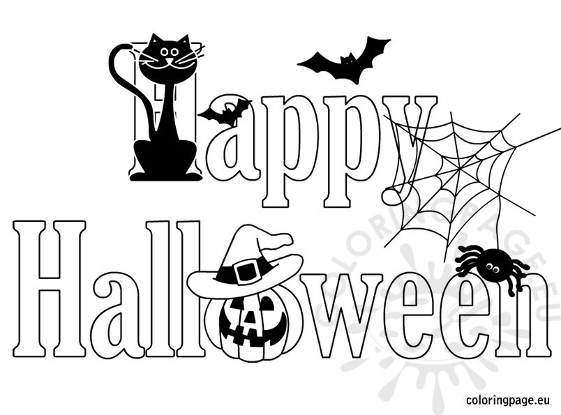 Happy Halloween Coloring Sheet Coloring Page
