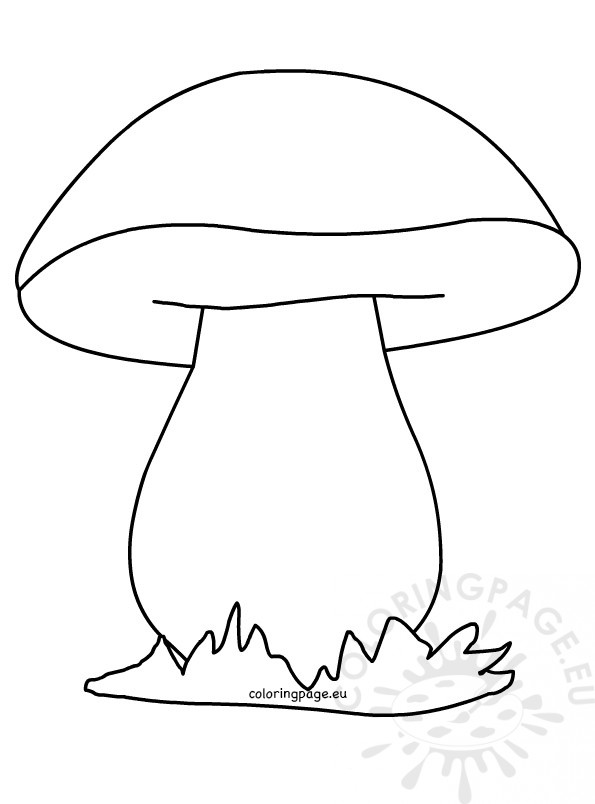 Mushroom coloring picture