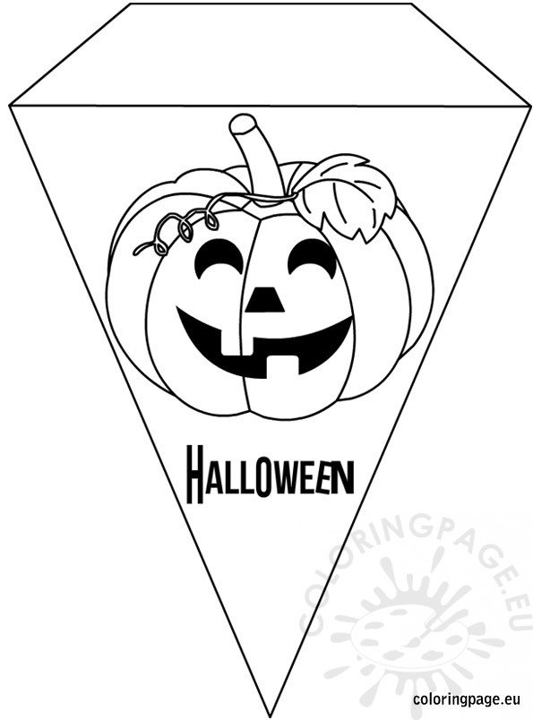 Printable Halloween Banner coloring - Coloring Page