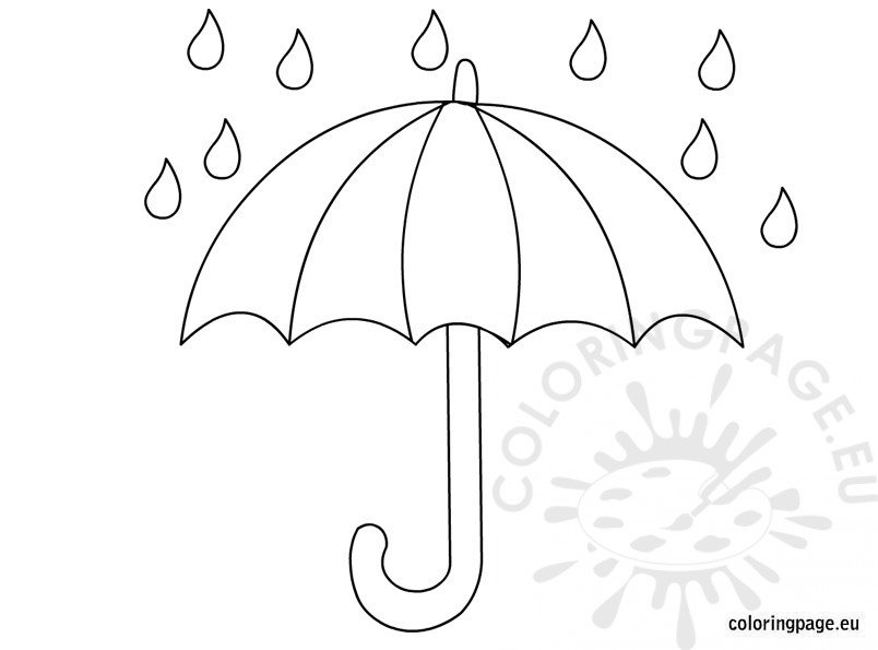 Umbrella Coloring Coloring Page