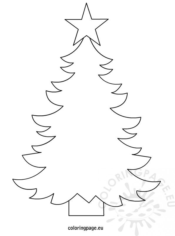 Christmas tree template to print - Coloring Page