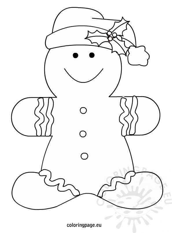 gingerbread man coloring page - christmas gingerbread men coloring page