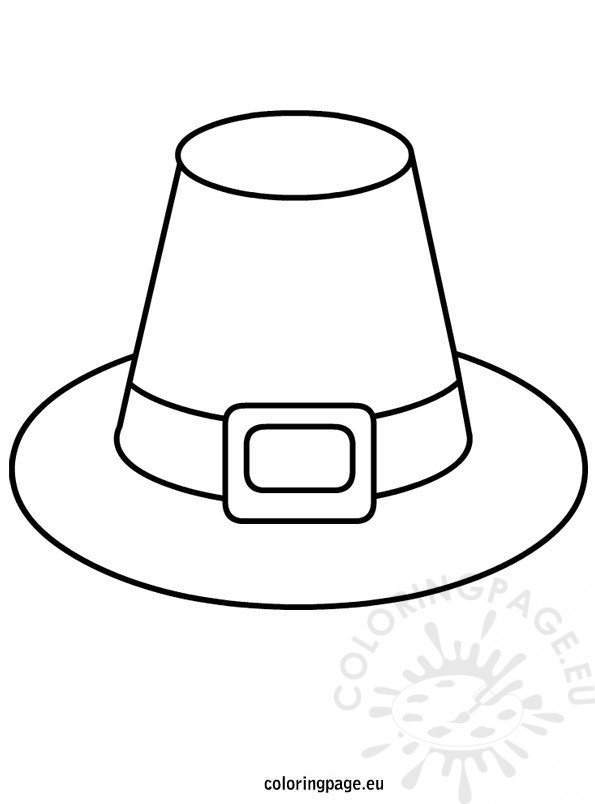 pilgrim hat template coloring page. Black Bedroom Furniture Sets. Home Design Ideas