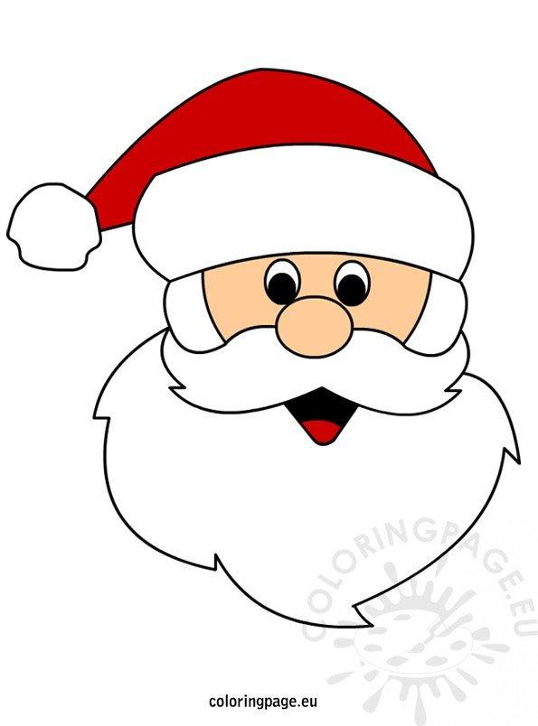 Santa Claus face – Coloring Page