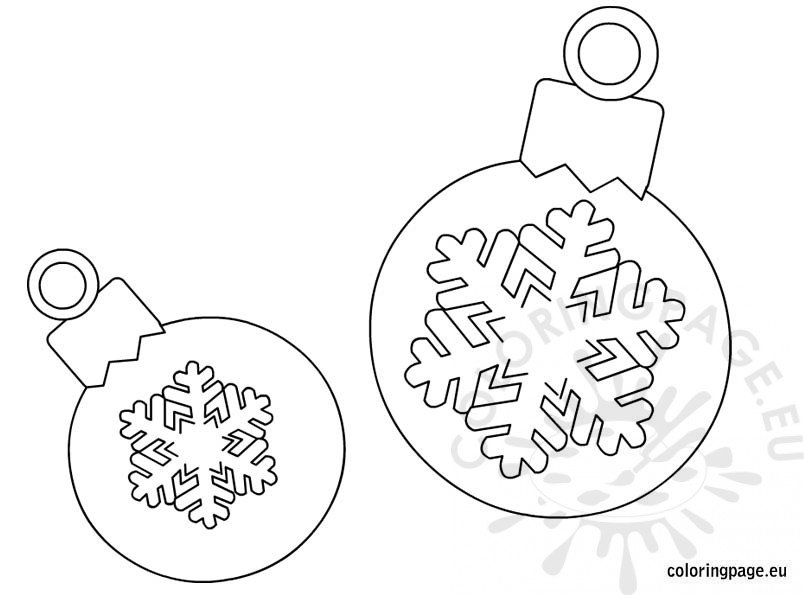 christmas tree ball coloring page pictures to pin on pinterest