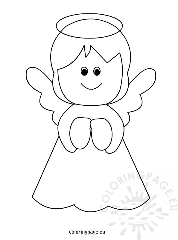 Free printable Angel Coloring