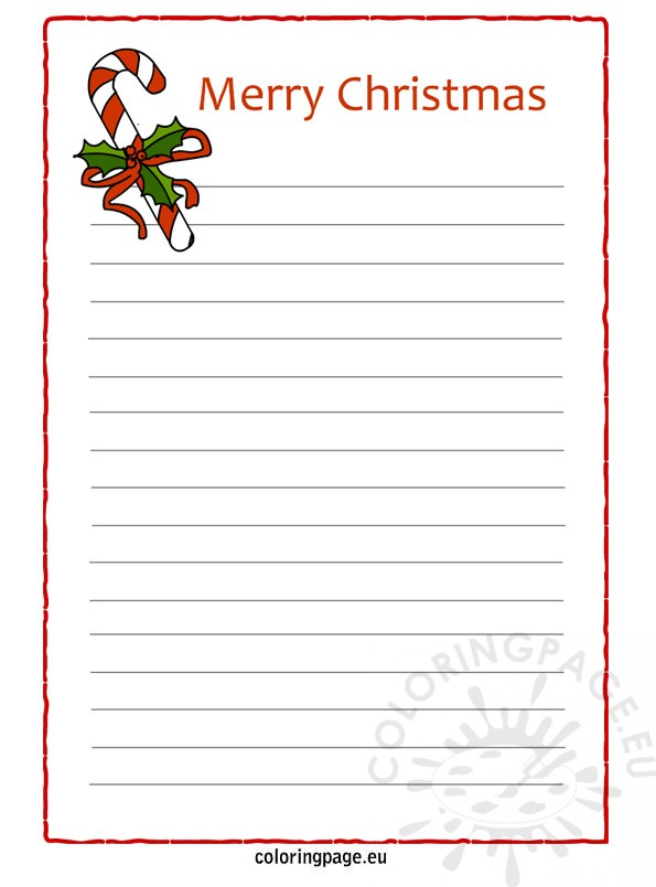 It's just a photo of Lucrative Printable Christmas Letter Paper