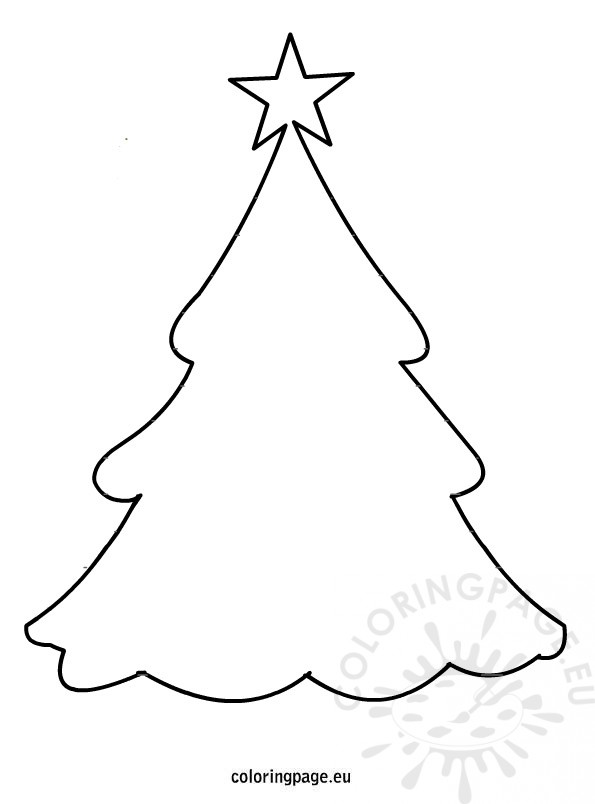 tree templates Colouring Pages christmas tree template