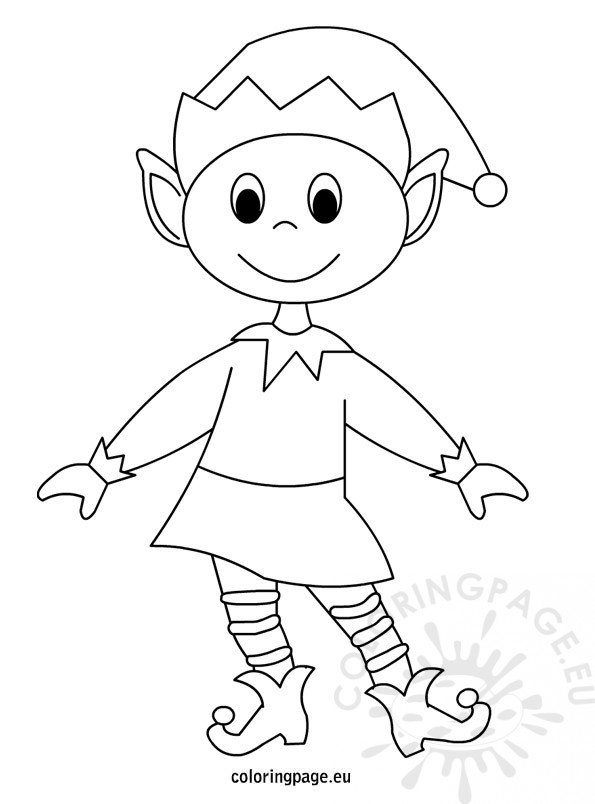 elf christmas coloring pages printable - photo#27