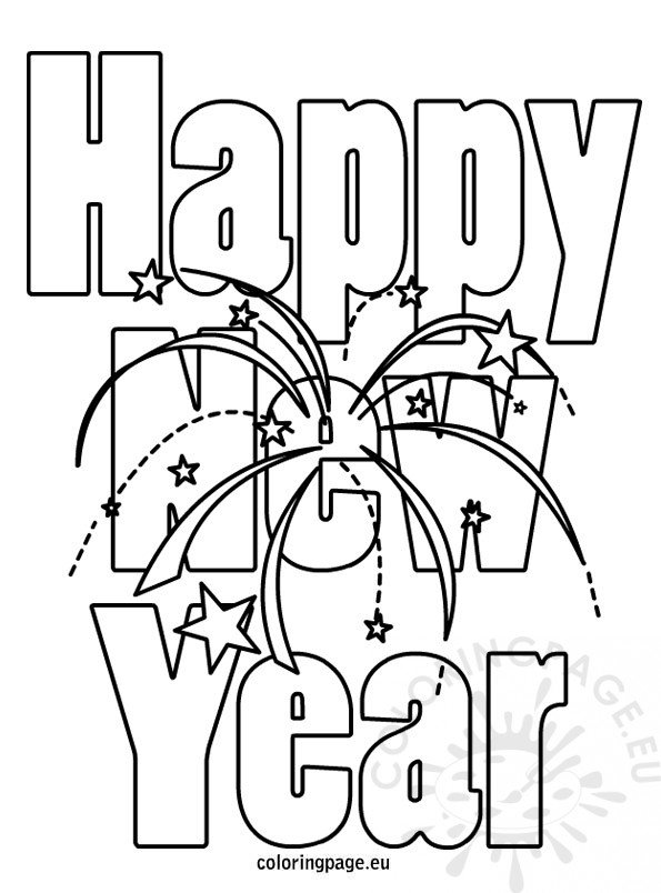 new year coloring pages 2013 | Happy New Year Coloring Pictures – Coloring Page