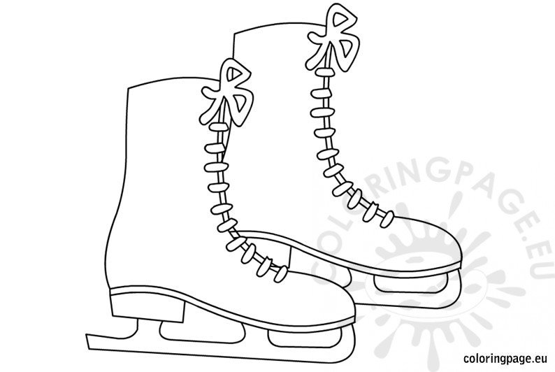 Coloring Sheets for Kids Ice skates
