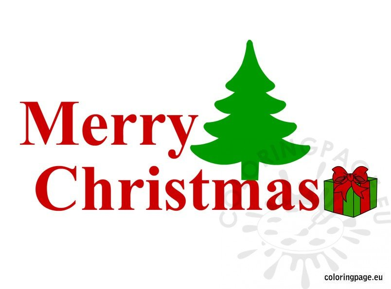 Merry Christmas Text Coloring Page Merry Text Coloring Pages