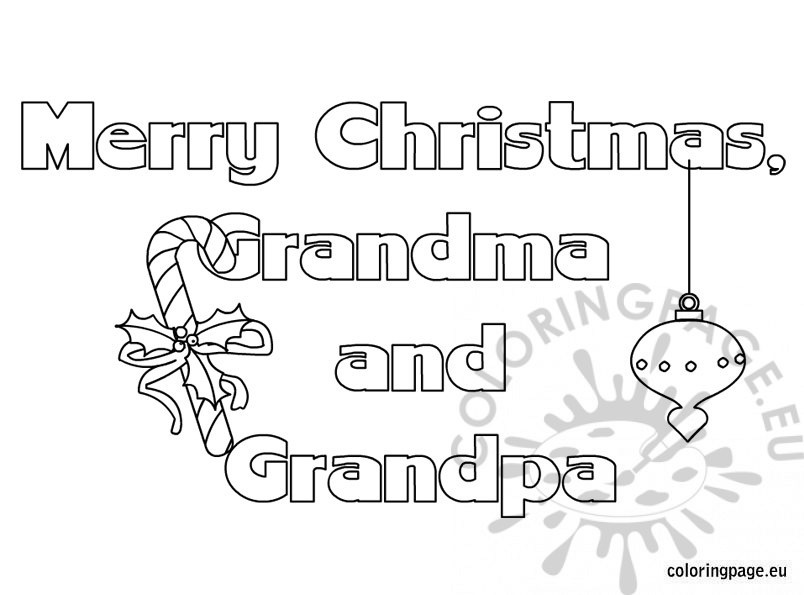 merry christmas grandma and grandpa text