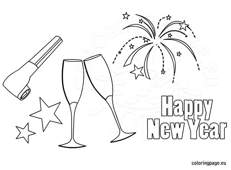 new year coloring pages 2013 | New Years coloring sheet – Coloring Page