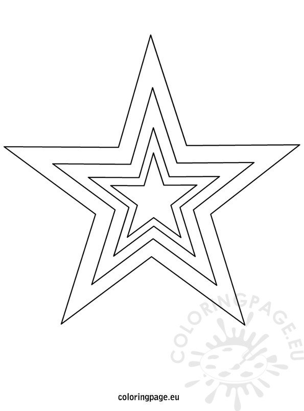 It's just a photo of Printable Stars Template in coloring page