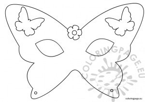 Butterfly mask template | Coloring Page | Butterfly Mask Coloring Page  | title