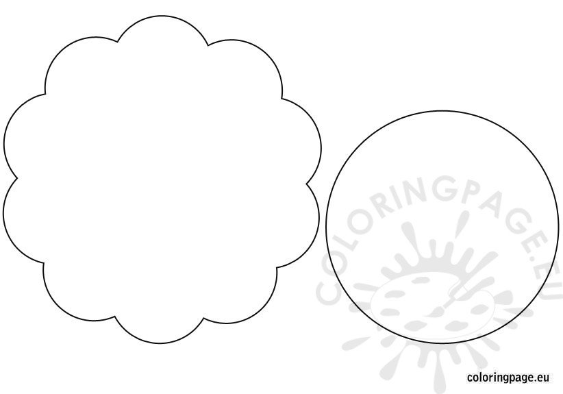 flowers banner template coloring page. Black Bedroom Furniture Sets. Home Design Ideas