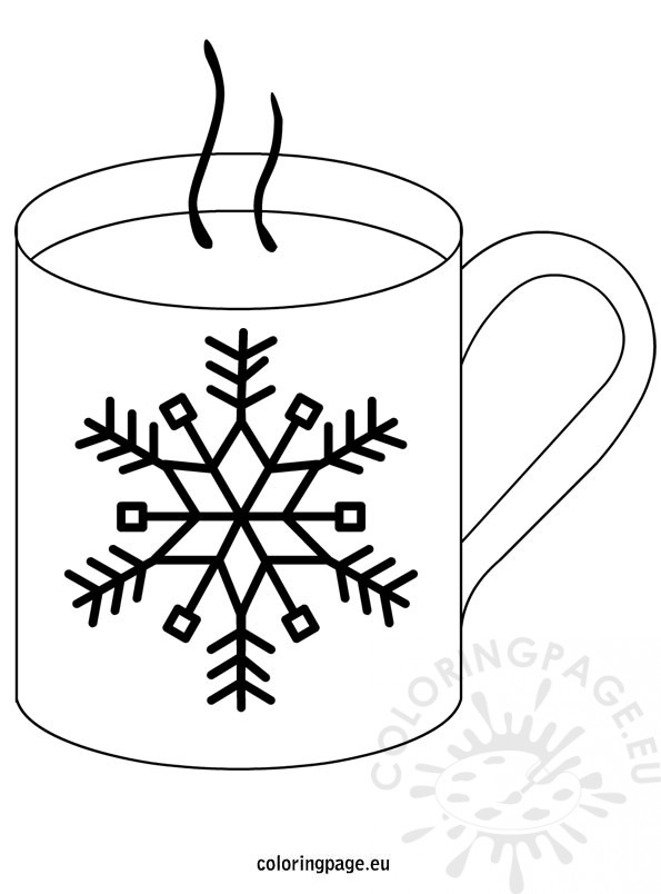 Winter Hot Chocolate Coloring Page