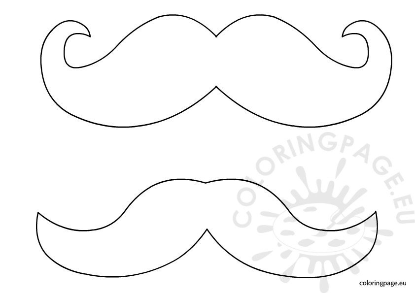 mustache colouring pages  page 2 Mustache Outline