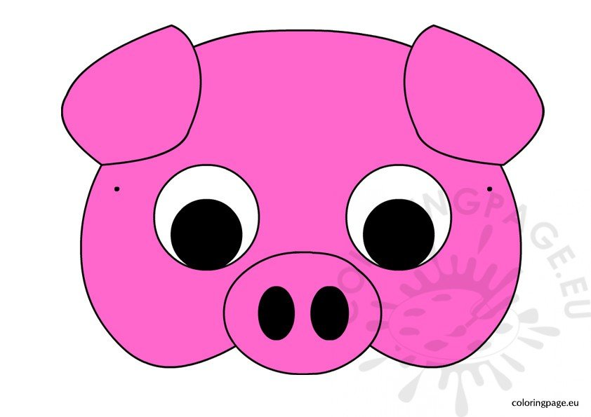 image regarding Printable Pig Mask called Pig mask Coloring Web site