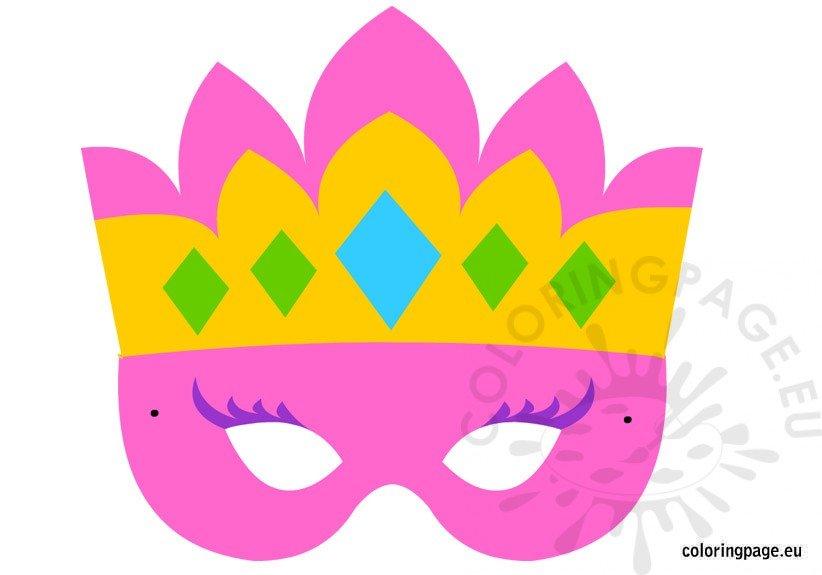 Princess mask Coloring Page