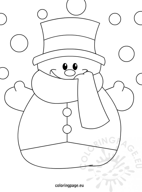 Snowman kids pinterest bonhomme de neige coloriage for Coloring pages of snowman
