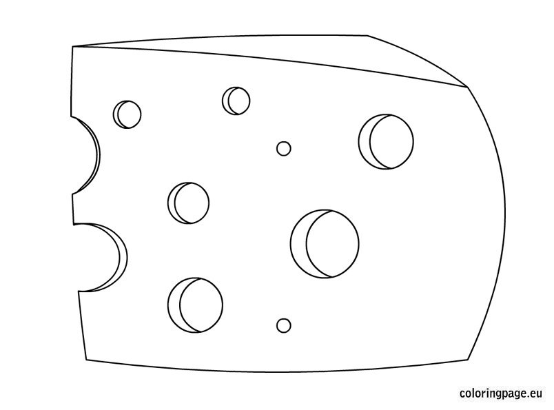 Cheese coloring page for kids - Coloring Page