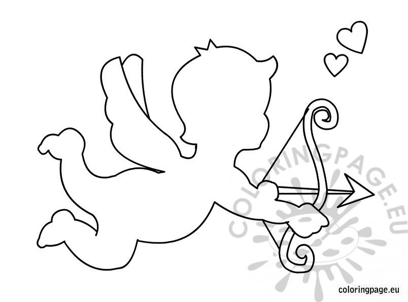 cupid coloring book pages - photo#33