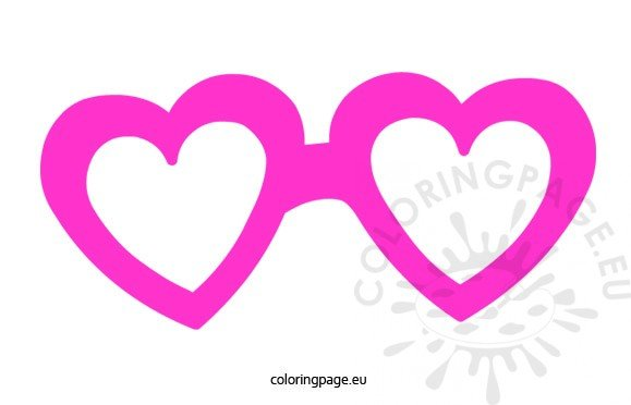 Hearts Glasses Mask Coloring