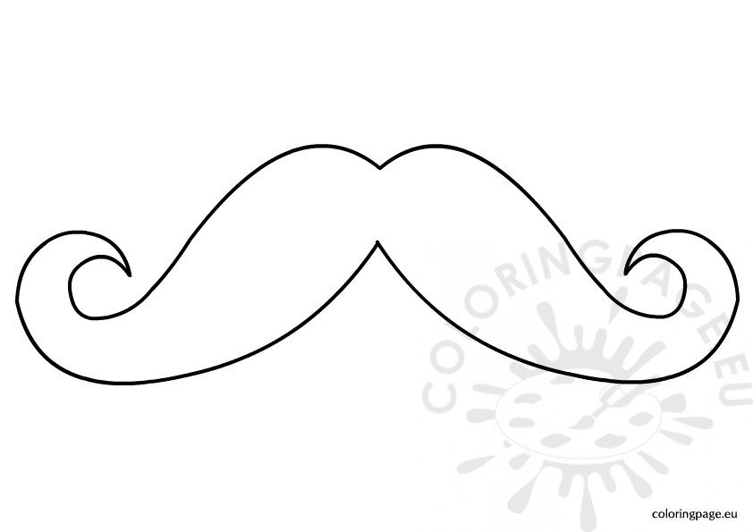printable mustache pattern - Mustache Coloring Pages