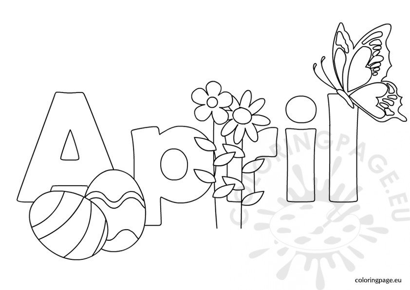 Coloring Pages For Month Of April : Spring coloring page
