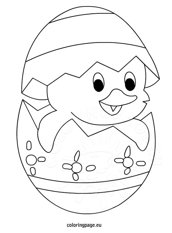 easter chicks coloring pages - easter cute chick coloring page